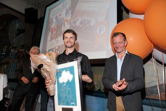 Erik Inderhaug har vunnet fagpressens journalistpris for artikler i Politiforum i 2012, 2014 og 2019. Her fra utdelingen i 2012.