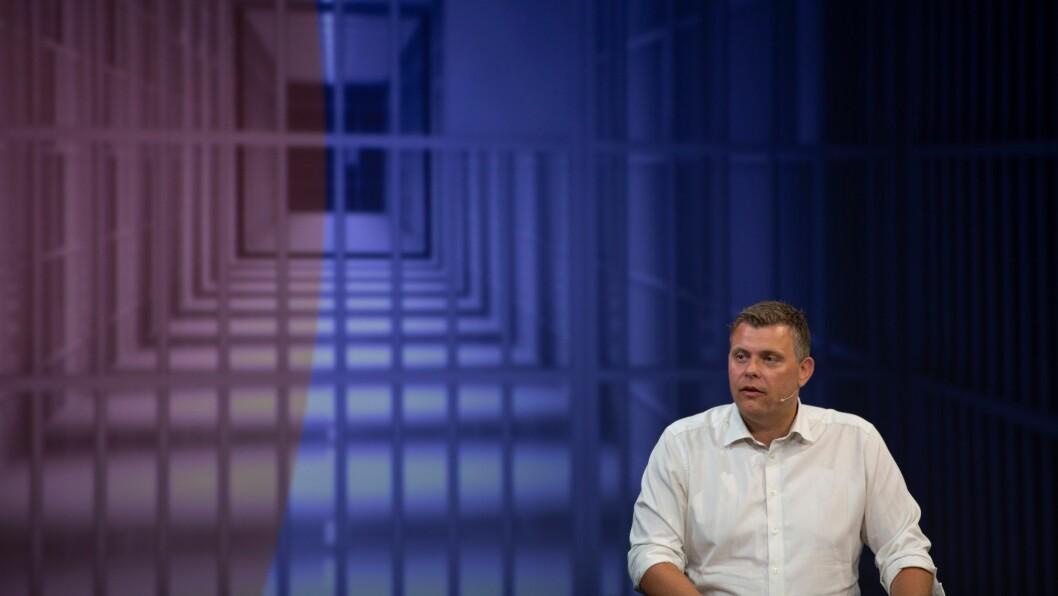 Justisminister Jøran Kallmyr (Frp) under en kriminalpolitisk debatt i Arendalsuka 2019.