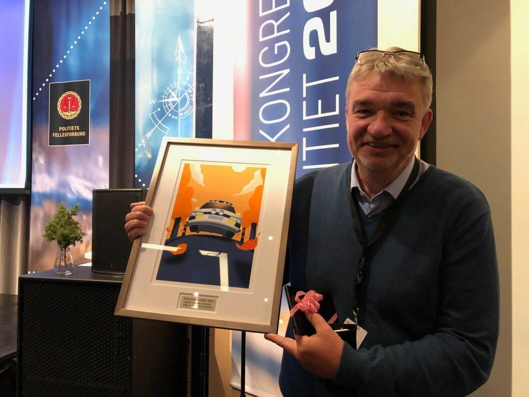 FIKK PRIS: Øyvind Verpeide er årets politileder i 2019.