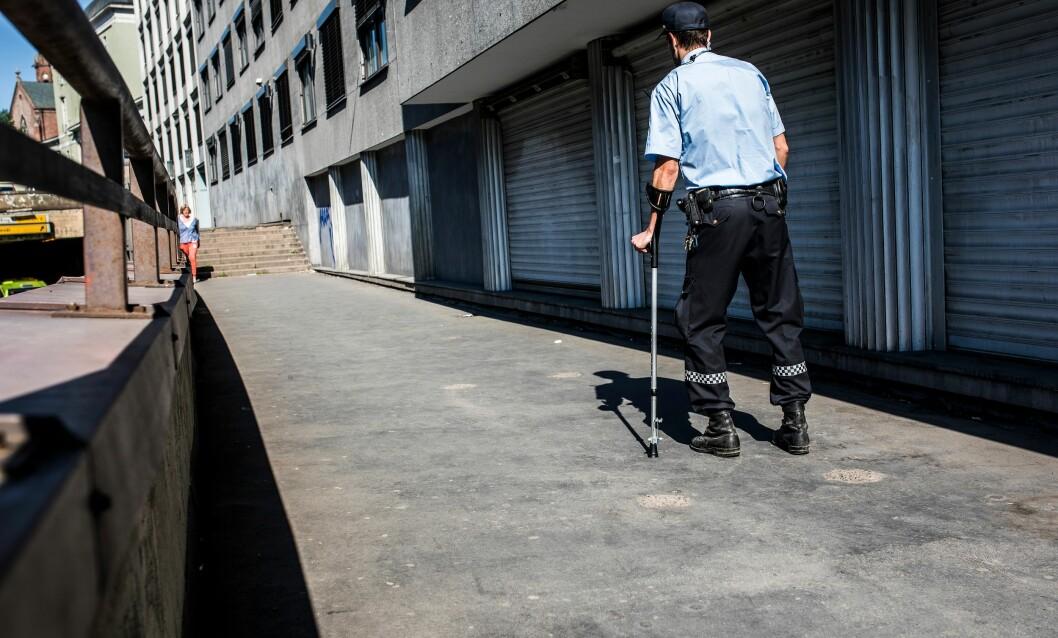 FOR DÅRLIG FORSIKRET: Det har blitt kalt «grovt urimelig» at politifolk som skader seg under obligatorisk trening i arbeidstiden, ikke skal ha rett på yrkesskadeerstatning.