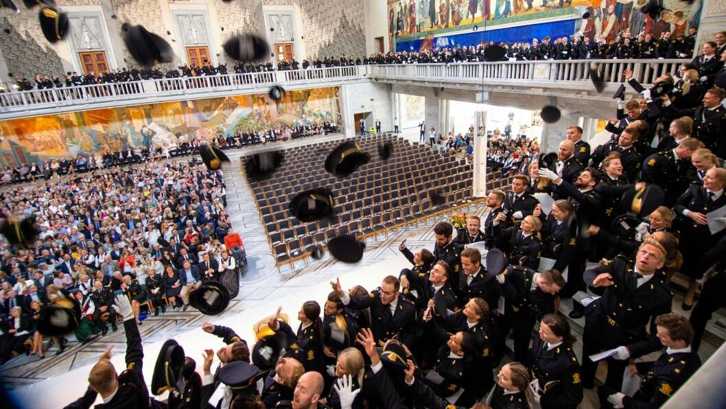 Bildet er tatt under uteksamineringen av studenter ved Politihøgskolen tidligere i år.