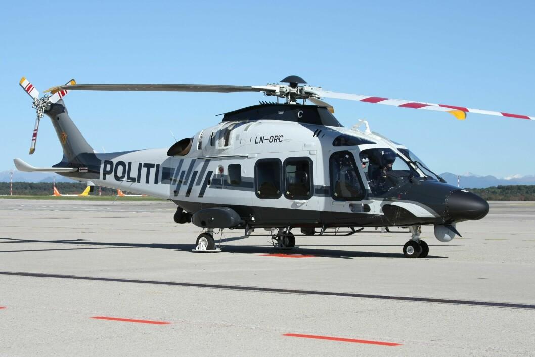 SNART KLART TIL TJENESTE: Det siste av politiets tre nye politihelikoptre er nå på vei til Norge.