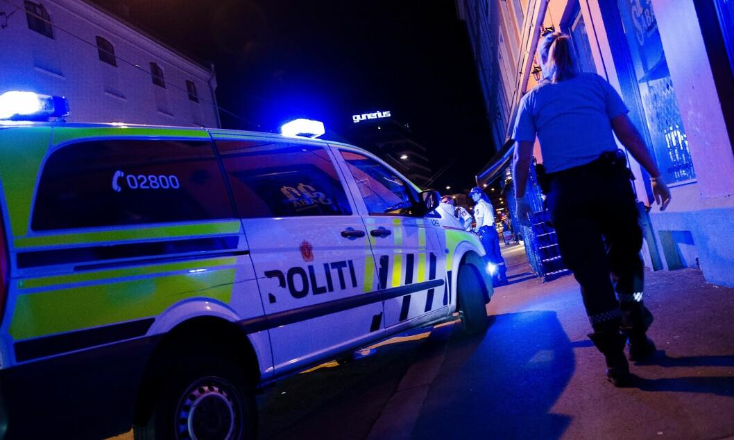 MYE VOLD: Oslo politidistrikt hadde en travel helg med mange oppdrag.