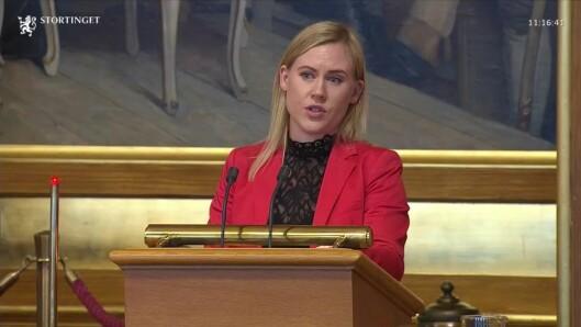 KRITISK: Leder av justiskomiteen, Lene Vågslid, synes ikke justisminister Jøran Kallmyr anerkjente problemene.