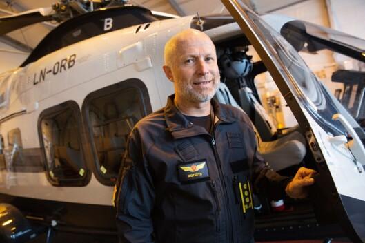 Freddy Rotseth, leder for helikoptertjenesten.