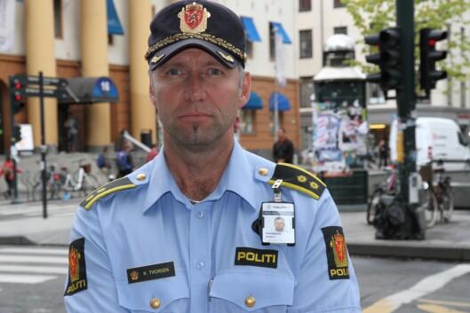 Robert Thorsen, seksjonssjef for patruljeseksjonen enhet sentrum, i Oslo politidistrikt.