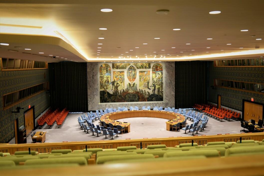 VERDENSROM: Norge ønsker en plass i FNs sikkerhetsråd i perioden 2021-22. Canada, Irland og Norge kjemper om to ledige plasser.