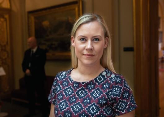 VIL HA SVAR: Lene Vågslid (Ap), leder av justiskomiteen på Stortinget, ville ha svar på om justisministeren er fornøyd med hva regjeringen har oppnådd for de 100 millionene som er brukt til nå på Prüm/Omnia-prosjektet.