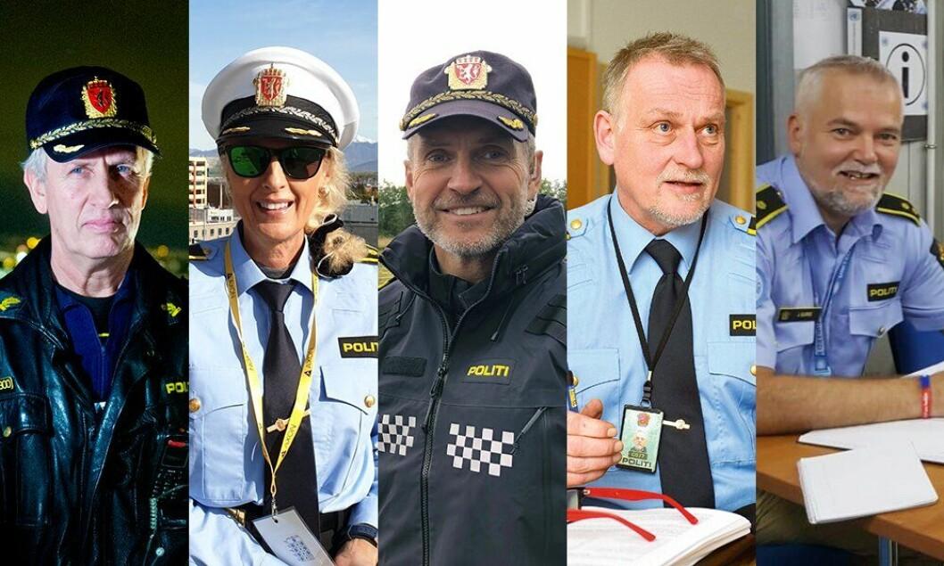 Thor Langli, Kim Anne-Marie Hiorth, Frode Tystad, Hans Roar Rasmussen og Jarle Bjørke er de fem nominerte til Politiforums Ærespris 2019.
