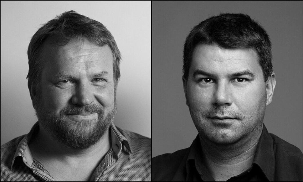 TO STEMMER: Bård Dyrdal (til venstre) og Jan Erik Bresil svarer på spørsmål knyttet til Politiforums cannabis-reportasje fra Colorado, USA.