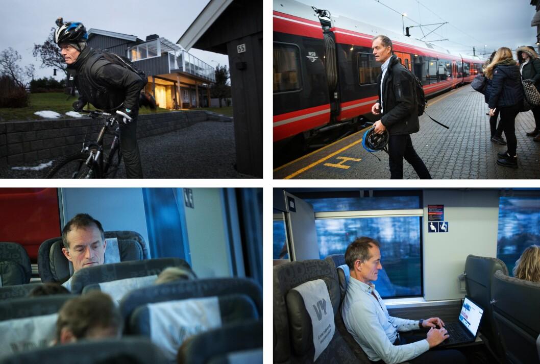 REISELIV: I 19 år har Ole Martin Mortvedt pendlet med tog fra Hamar til redaktørjobben i Oslo. Utsikten har han sjelden sett. Blikket har vært vendt mot PC-en.