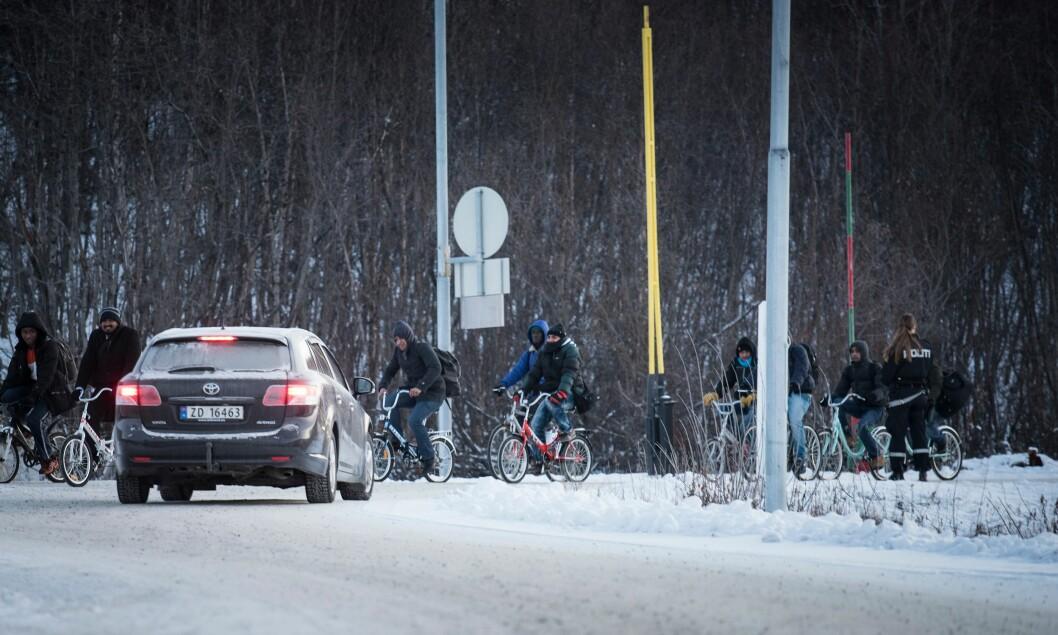 GRENSELAND: Bakgrunnen for arbeidet til Beredskapshjemmelutvalget er flyktningkrisen på grenseovergangen Storskog i 2015.Resultatet ligger nå på bordet i form av et forslag til en ny krisefullmaktslov.