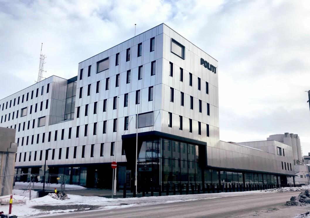 ARBEIDSPLASS: Det var fra Losoa og Lingas faste arbeidssted ved Tromsø politistasjon at fangetransporten til Trondheim startet.