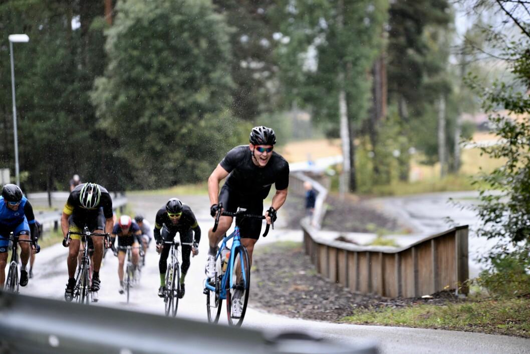 SYKKELMESTERSKAP: Alle politimesterskap er utsatt til etter sommeren på grunn av koronaviruset. Bildet er tatt under politimesterskap i sykkel i Hønefoss i fjor.