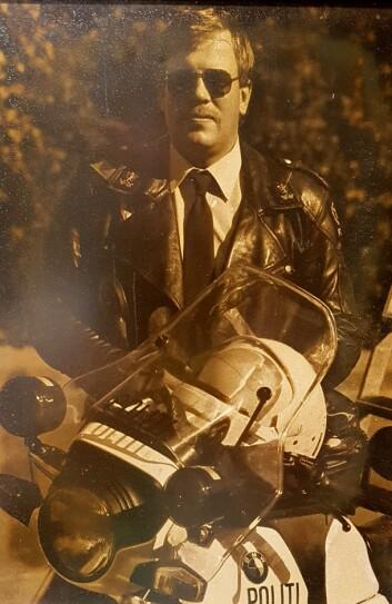 BRILLEFIN: Rynning fra den gangen han kjørte motorsykkel i trafikkorpset i Oslo.