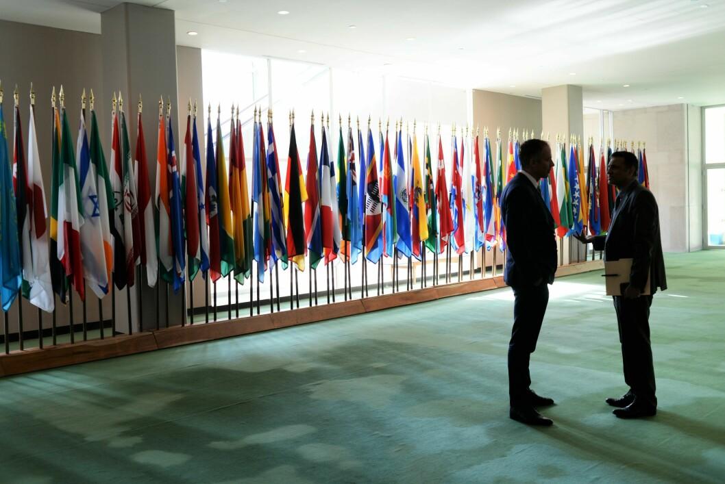 Bildet er tatt hos FN-delegasjonen i New York.