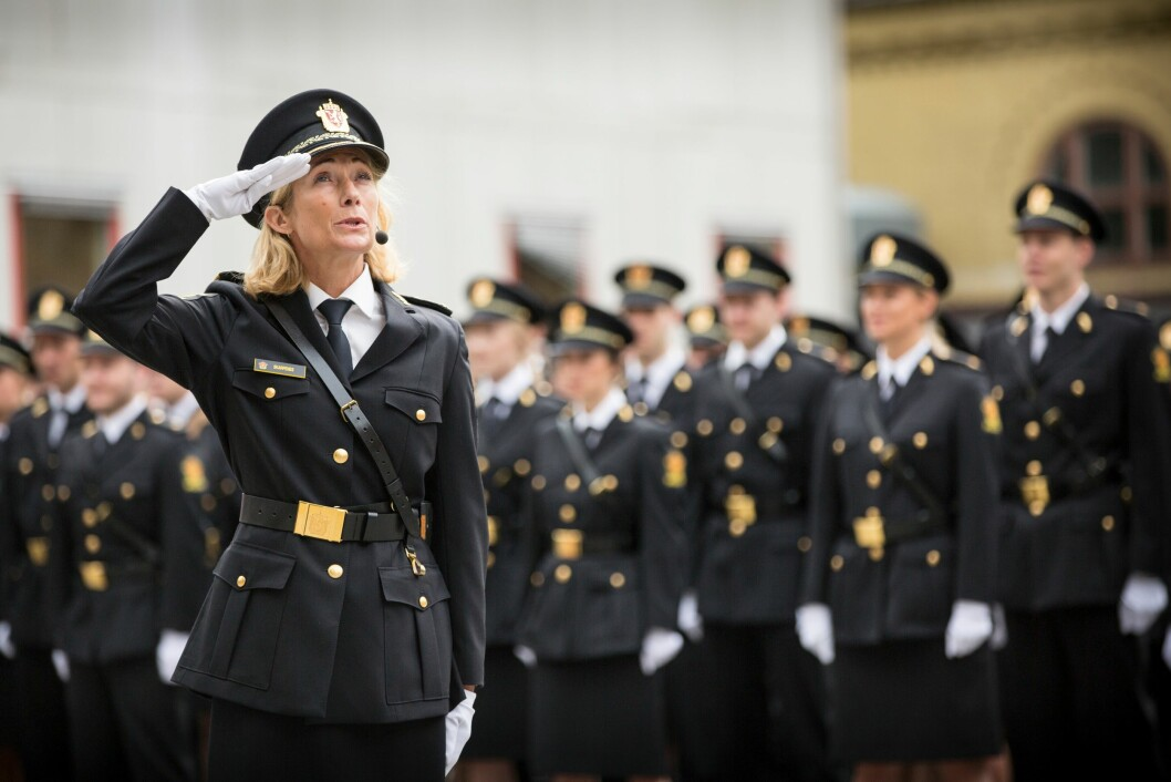 Nina Skarpenes, rektor ved Politihøgskolen. Bildet er tatt under uteksamineringen av tredjeårsstudenter i 2018.