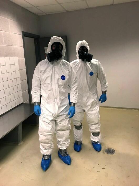 BISTOD: Disse to rykket ut da Silje Tillerflaten og hennes kollegaer oppdaget at gutten som sto foran dem kunne være smittet av korona.