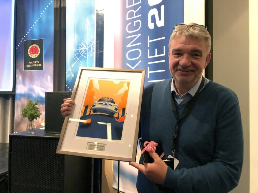 PRISVINNER: Øyvind Verpeide er ikke bare lensmann på tiende året, han ble også Årets politileder i 2019.