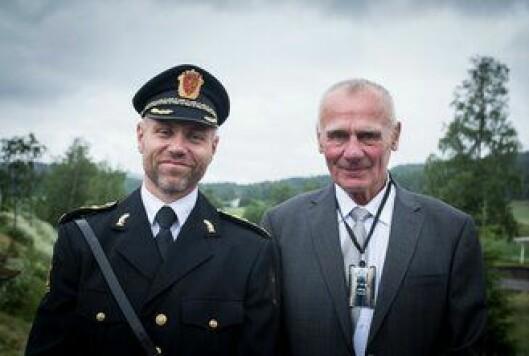 Helge Mehus, nåværende Deltas-sjef, og Torleiv Vika, den aller første.