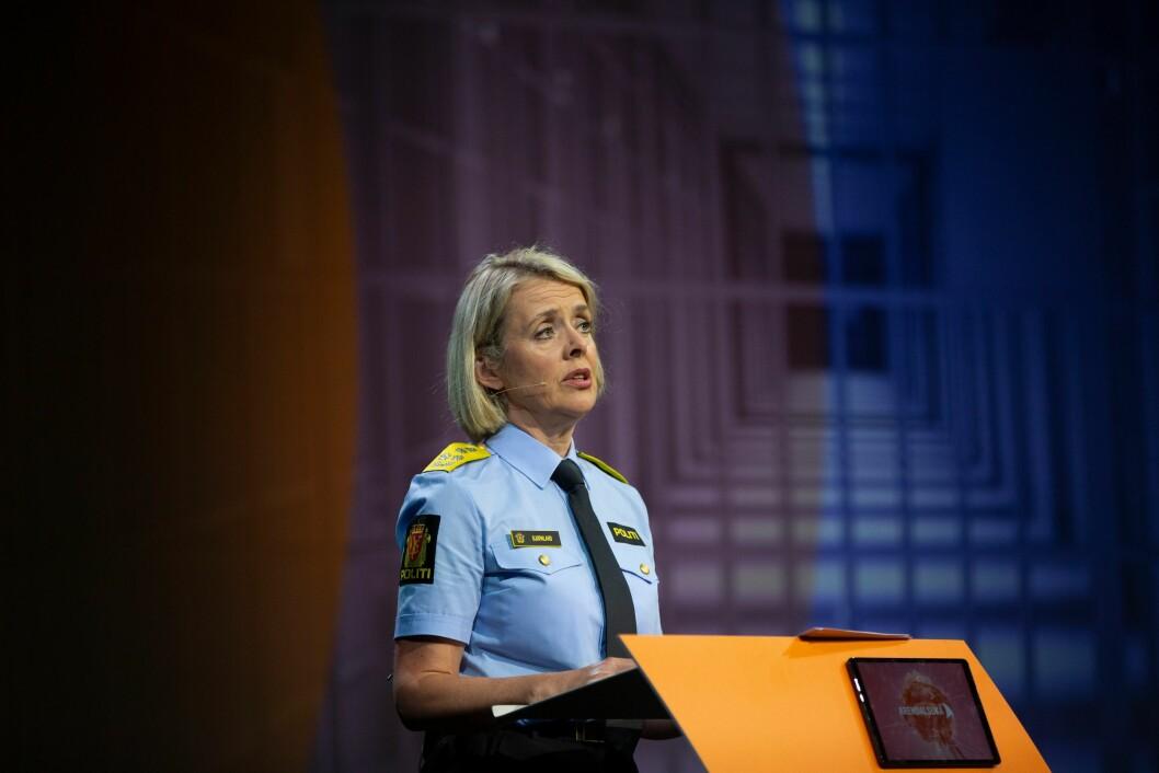 Politidirektør Benedicte Bjørnland. Bildet er tatt i en annen sammenheng.