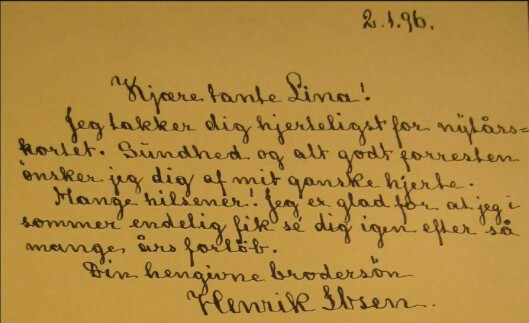 EKTE: Skriftgransker Gunhild Isager brukte mye tid på å studere en lang rekke av Henrik Ibsens signaturer. – De ekte signaturene var forholdsvis konsekvent utformet og avvek fra de omstridte, sier hun.