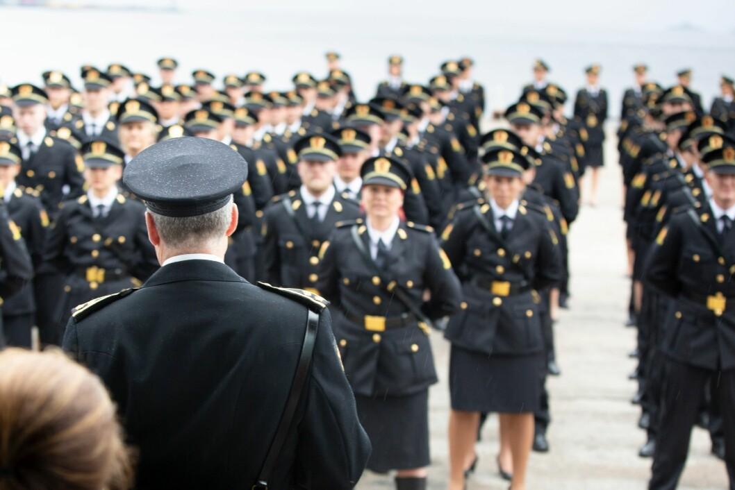 Avslutningsseremoni for avgangsstudentene ved Politihøgskolen i Stavern i 2019.