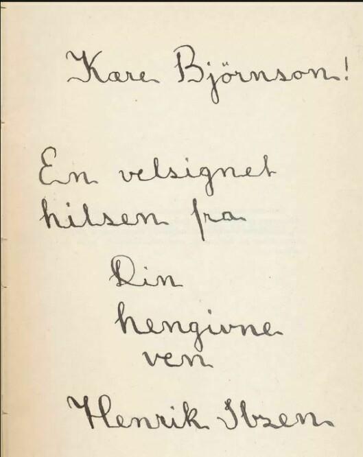 FALSK: Flere forhold ved de omstridte signaturene gjorde at Isager konkluderte med at de sannsynligvis – skriftgranskning er ingen eksakt vitenskap – ikke var ekte. Både hellingsvinkelen (1) på skriften, skriftstørrelsen (2) og utformingen av enkelte detaljer lå til grunn. – Stor «I» (3) hadde et annet begynnelsestrekk. Denne feilen fant vi for øvrig i mistenktes notater hvor han øvde seg på Ibsen-signaturer, sier Isager. At samme utforming gikk igjen i notatboken, gjorde at politiet kunne knytte de omstridte signaturene til notatbokens eier. Mannen ble senere dømt for grovt bedrageri.