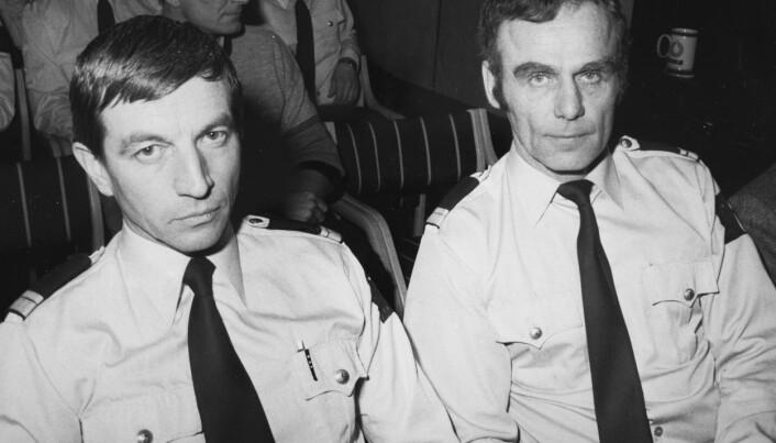HØYT AKTET: Da Torleiv Vika (til høyre) i 1986 måtte gå av som sjef for Beredskapstroppen, gikk hans nestkommanderende Asbjørn Myrind av i protest. Foto: NTB Scanpix