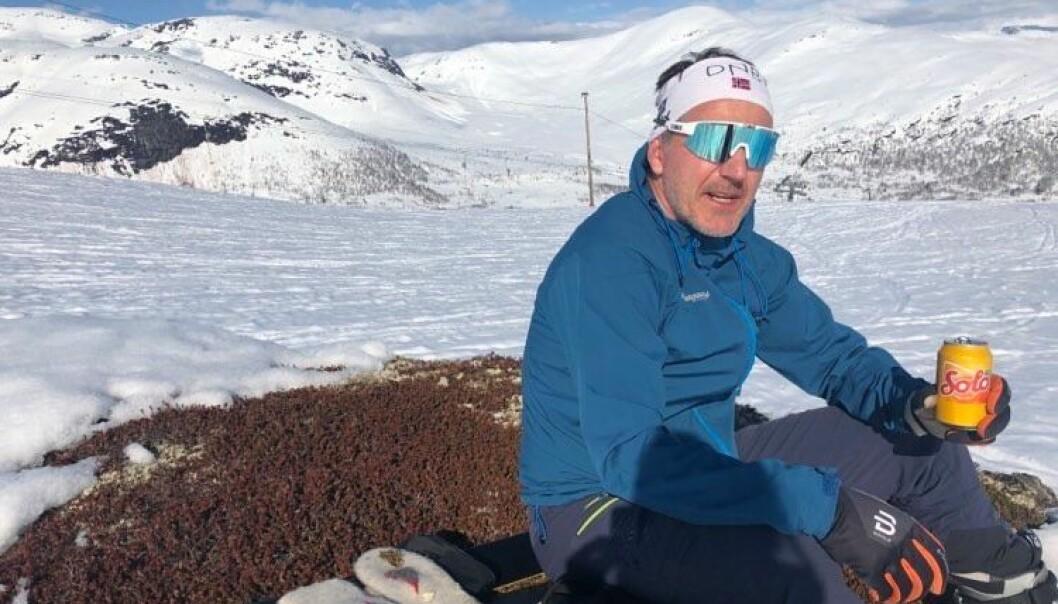 Oddbjørn Solheim liker å være aktiv i ferien.