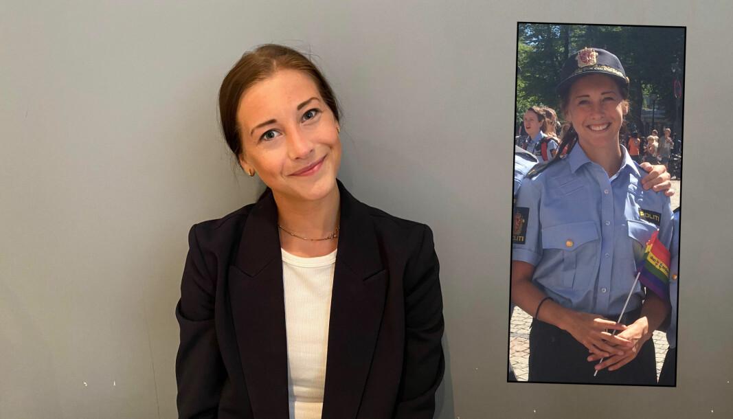 Det ble ingen studentavslutning med finstas og festivitas i Oslo rådhus i år. Det uniformerte bildet av Marita Sivertsen ble tatt under Pride i Oslo i 2018.