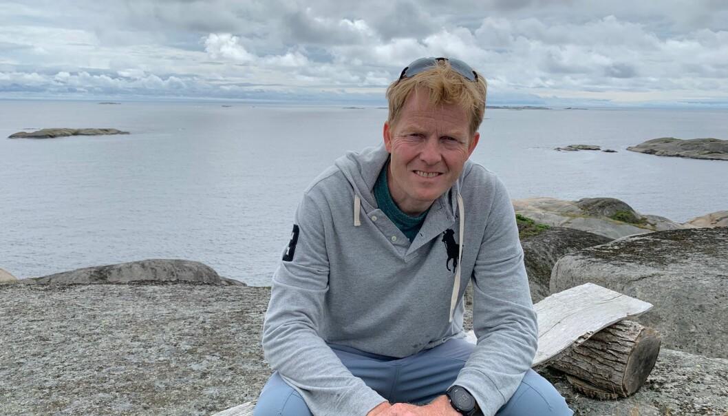 Årets sommerferie tilbringer Pål K. Lønseth på hytta i Larvik.