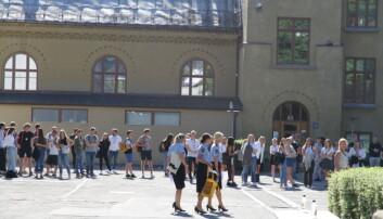 I dag startet studieåret for politistudentene ved alle Politihøgskolens studiesteder. Her fra Politihøgskolen i Oslo.