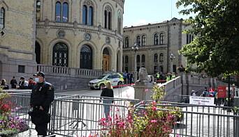 GAMLE GJERDER: Under lørdagens Sian-markering gikk Oslo politiet for gamle gjerder.