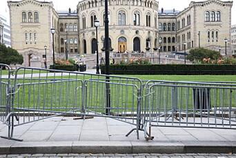 HIT, MEN IKKE LENGER: Gjerdene stod igjen etter at Sian-arrangementet ble avsluttet lørdag.