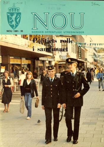 DEN GANG DA: Politirollemeldingen fra 1981 slo fast politiets ti grunnprinsipper. Selv om prinsippene fortsatt gjelder i dag, mener flere kritikere at de uthules av dagens politipolitikk.