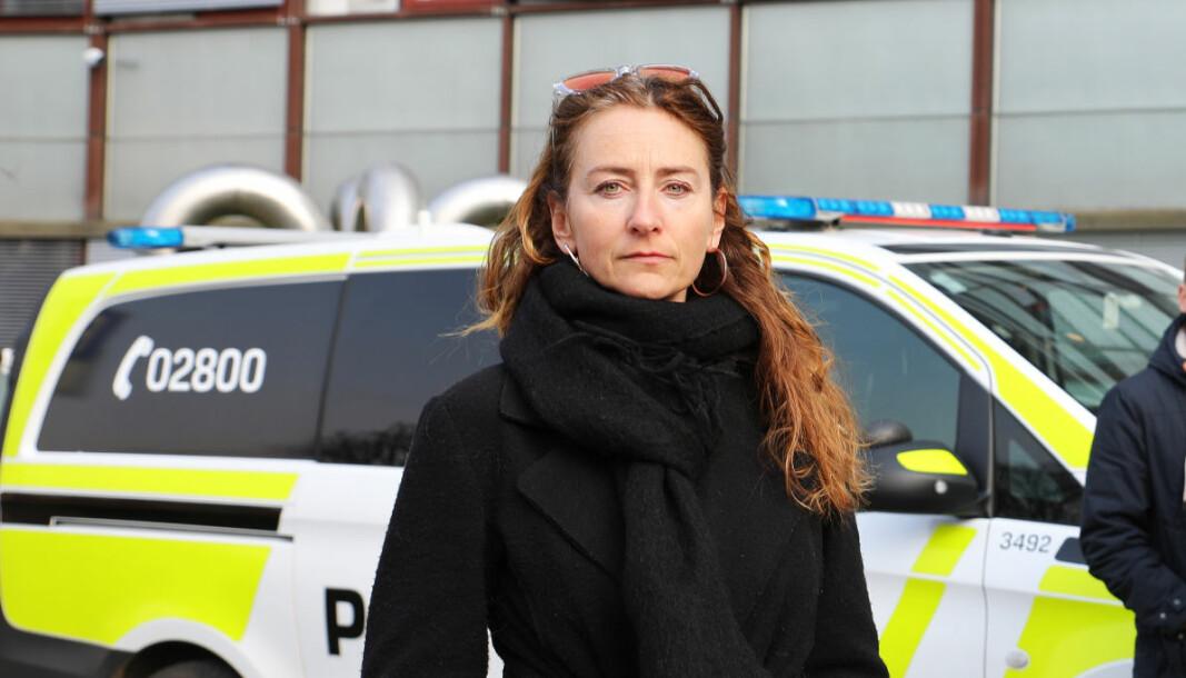 Kristin Aga, leder av Oslo politiforening.