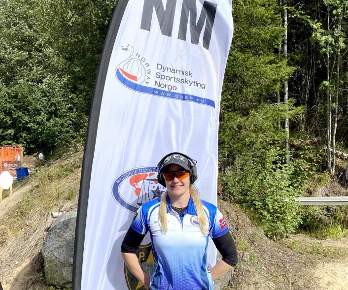 NORGESMESTER: Tysnes under sitt første NM, på Kongsvinger i august i år, hvor hun gikk helt til topps.