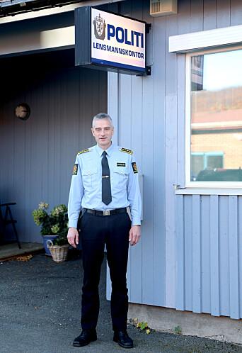 ALENEGANG: Lensmann Andreas Nilsen, frykter at seks av åtte ansatte forsvinner fra Setermoen, som i sin tid skulle bli nytt hovedsete i lensmannsdistriktet.