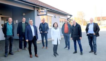 STØTTENDE: Politiforum møtte en rekke av ordførerne før møte med politimesteren. De deler lensmann Andreas Nilsens bekymringer.