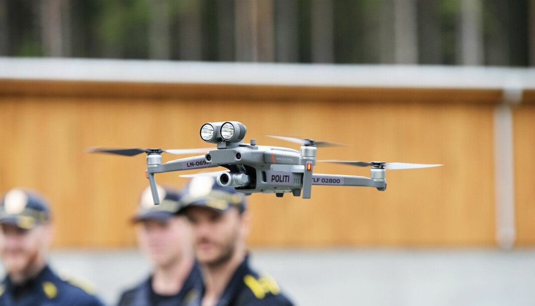 De kommende årene blir det langt flere politidroner i tjeneste. Her fra en dronedemonstrasjon i 2019.