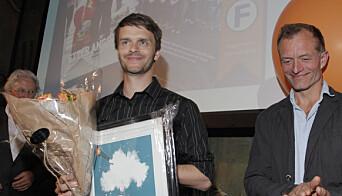 Erik Inderhaug har mottatt Fagpressens journalistpris fire ganger. Bildet er fra en tidligere utdeling av fagpresseprisene. Årets utdeling foregikk digitalt.