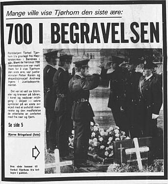 Kollega drept 1973: Politimannen Torkel Tjørhom ble skutt og drept av en rømling på flukt
