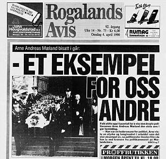Kollega drept 1990: Politimann og hundefører Arne Andreas Mæland ble skutt og drept i forbindelse med et skarpt oppdrag