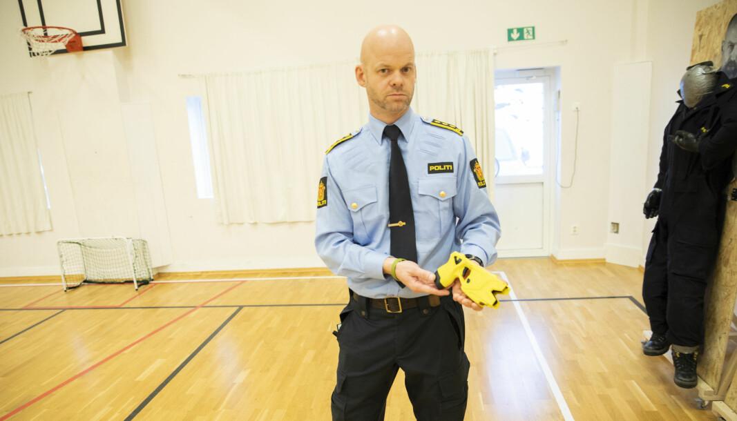 Kjetil Lussand, leder for elektrosjokkvåpen-prosjektet i politiet.