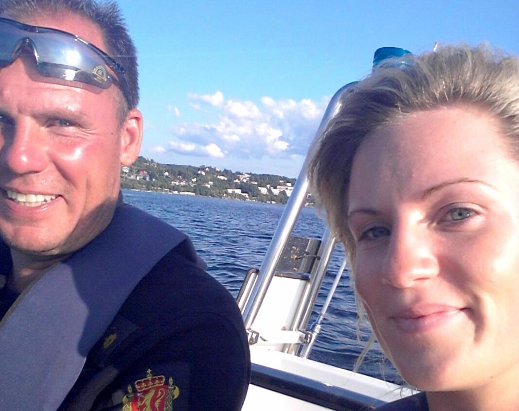 FAR OG DATTER: Dag Harald Johannessen sammen med datteren Lill Astrid.