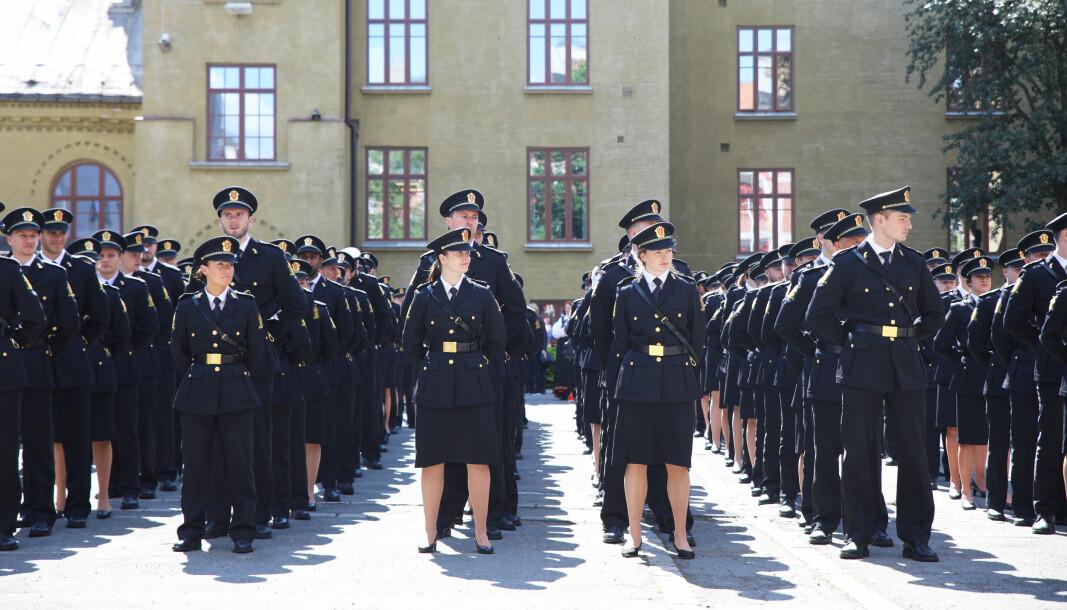Bildet er tatt under uteksamineringen ved Politihøgskolen i Oslo i 2019.