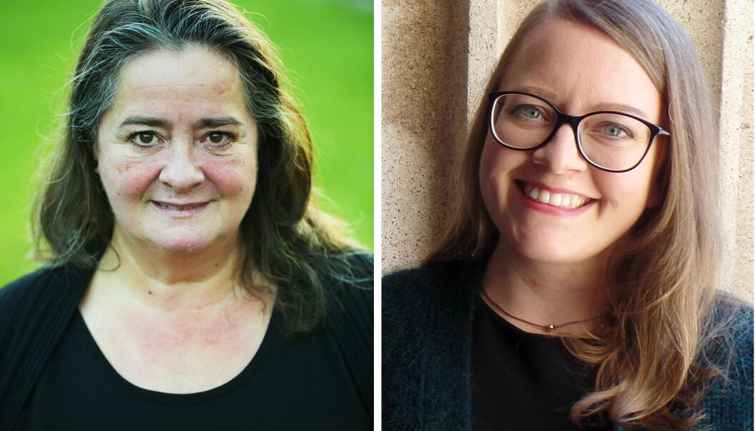 Nina Jon, førsteamanuensis ved Politihøgskolen, og Jenny Maria Lundgaard, førsteamanuensis ved Politihøgskolen.
