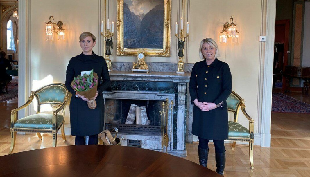 Sofie Nystrøm og Monica Mæland.