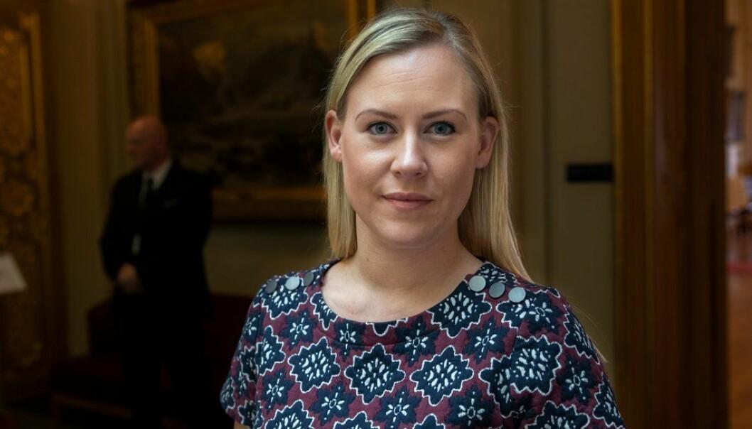 Lene Vågslid, leder av Justiskomiteen, er fornøyd med at Justiskomiteen har slått fast at Utrykningspolitiet skal bestå.